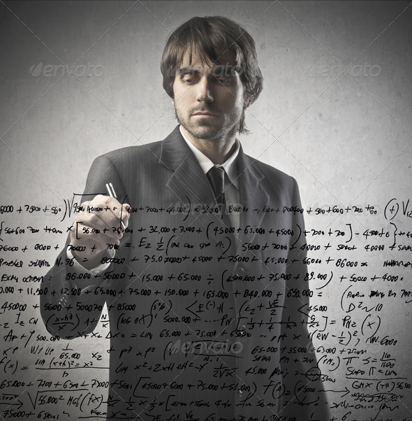 Writing Businessman - Stock Photo - Images