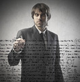Writing Businessman