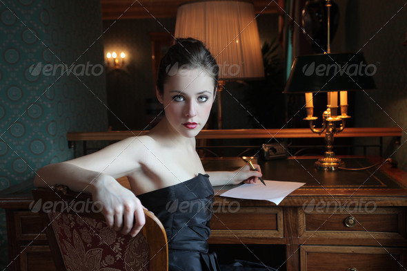 Elegant Writing - Stock Photo - Images