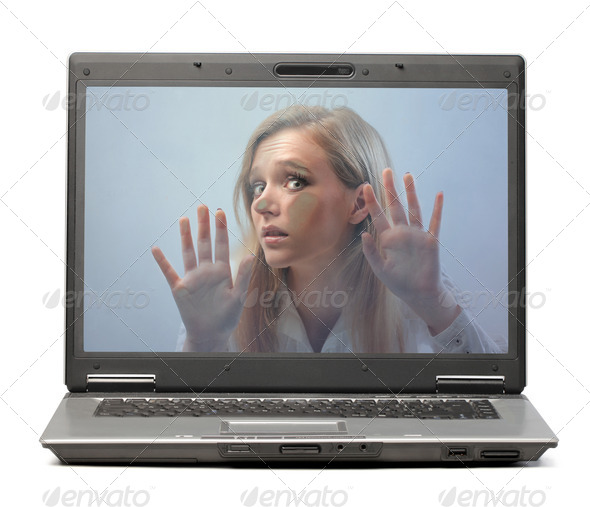 Imprisoned in the Laptop - Stock Photo - Images
