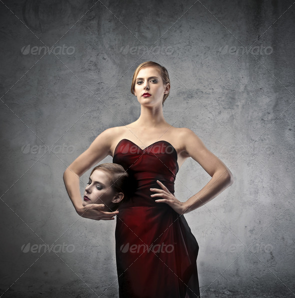 Blonde Woman Head - Stock Photo - Images