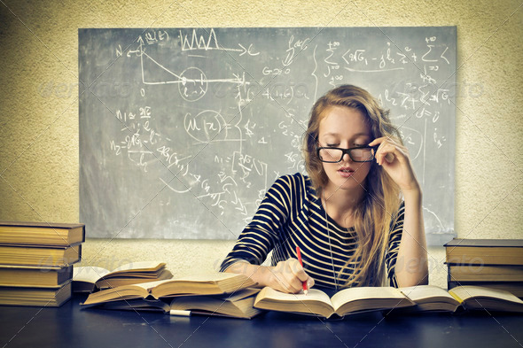 Blonde Student - Stock Photo - Images