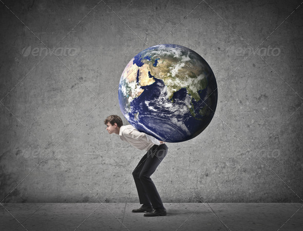 The World Burden - Stock Photo - Images