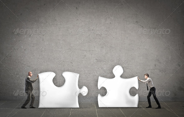 Business Puzzle - Stock Photo - Images