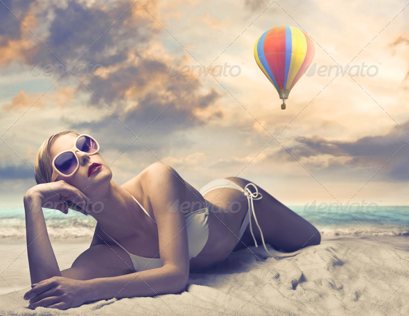 Vogue Beach - Stock Photo - Images