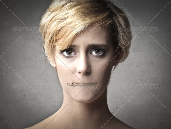 Tight-Lipped - Stock Photo - Images