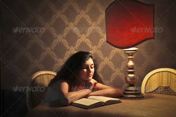 Elegant Reading - Stock Photo - Images