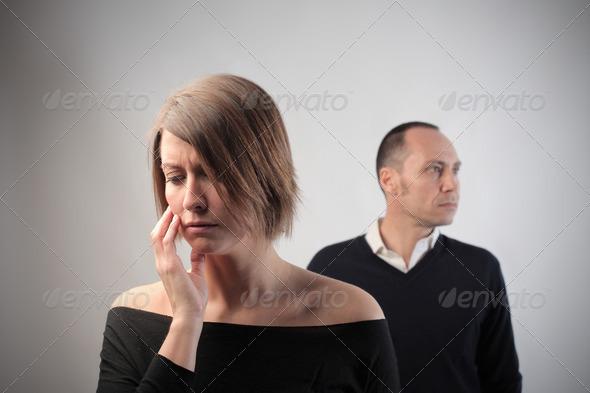 Sad Couple - Stock Photo - Images