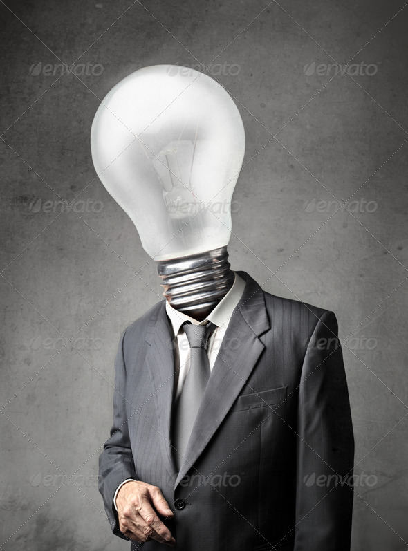 Bulb Man - Stock Photo - Images