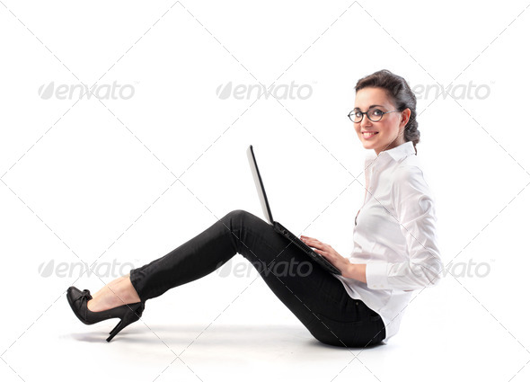 Smiling Professional Woman - Stock Photo - Images