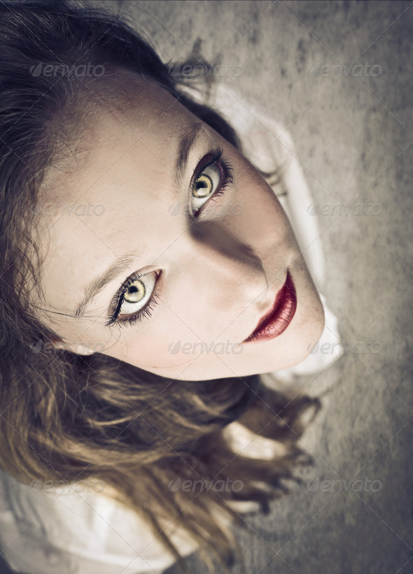 Blonde Fascinating Girl - Stock Photo - Images