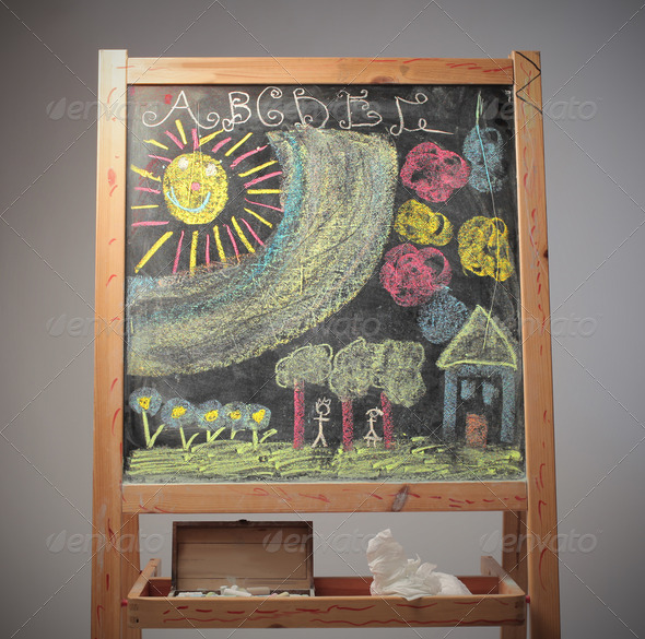 Colored Black Board - Stock Photo - Images