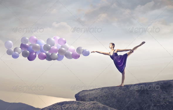 Dancer Balloons - Stock Photo - Images