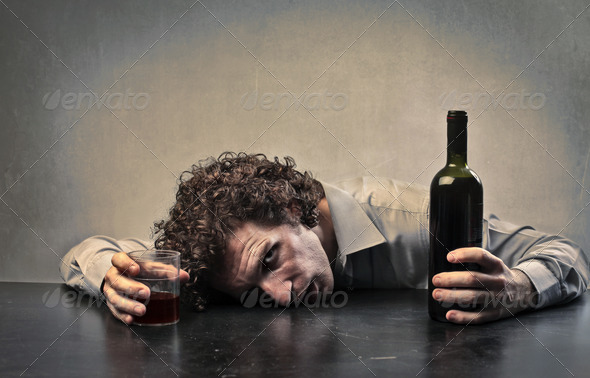 Drunk of Wine - Stock Photo - Images