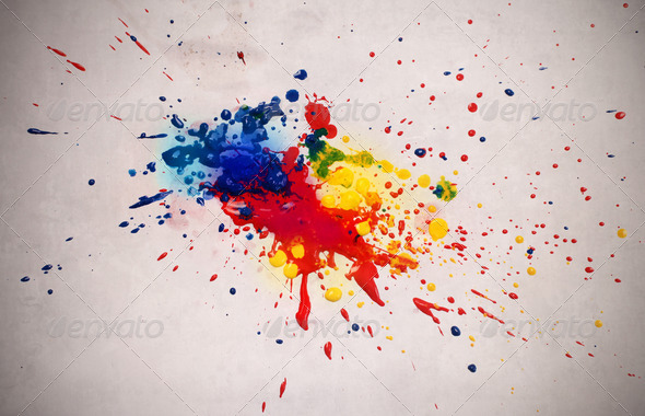Colored Stain - Stock Photo - Images