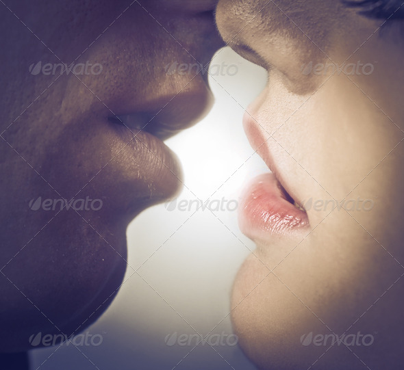 Softly Kissing - Stock Photo - Images