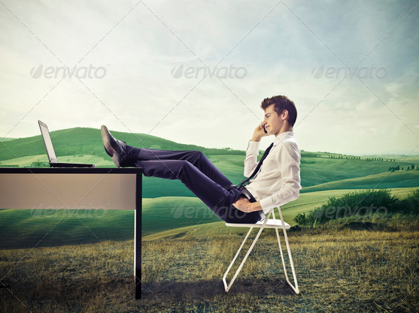 Relaxing Business - Stock Photo - Images