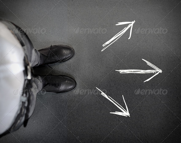 Three Directions - Stock Photo - Images