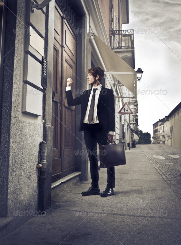 Door to Door Salesman - Stock Photo - Images