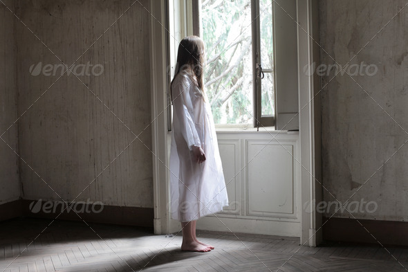 Girl in White - Stock Photo - Images
