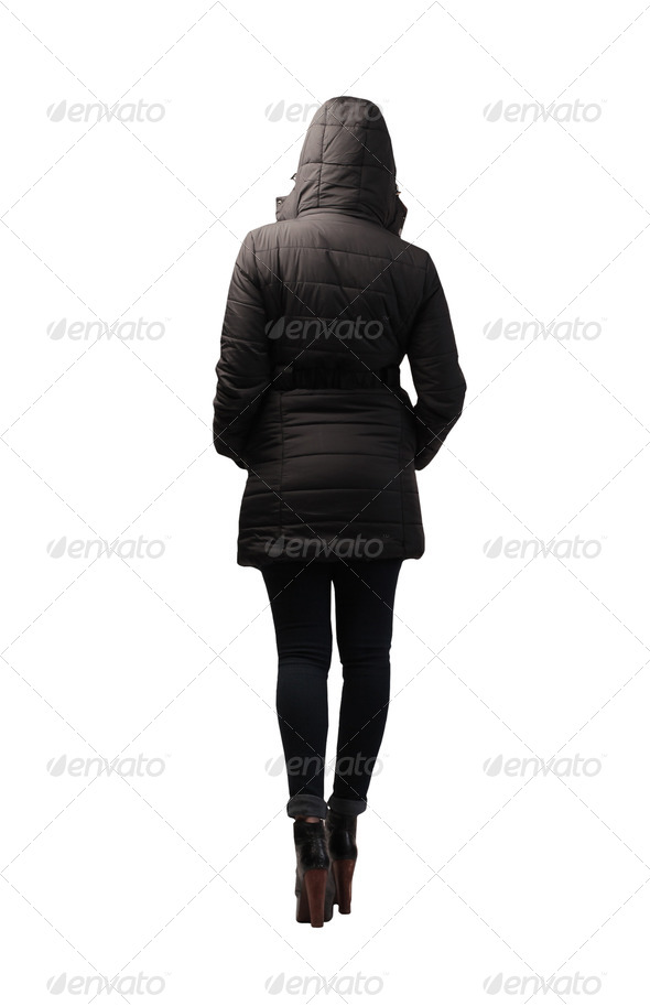 Woman Dressed in Black - Stock Photo - Images