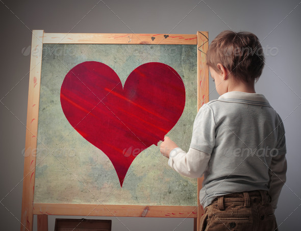Drawn Heart - Stock Photo - Images