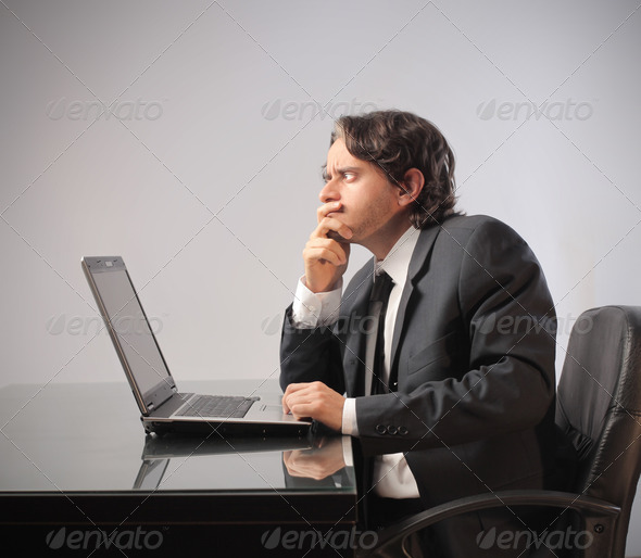 Businessman Doubt - Stock Photo - Images