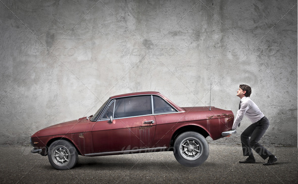 Lift a Car - Stock Photo - Images