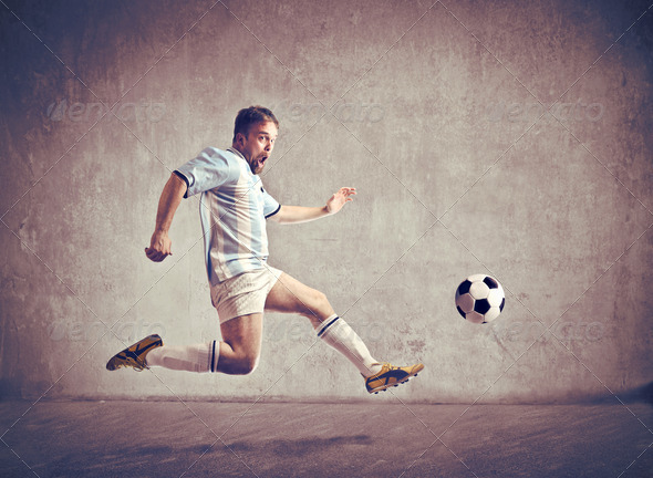 Running Soccer Player - Stock Photo - Images
