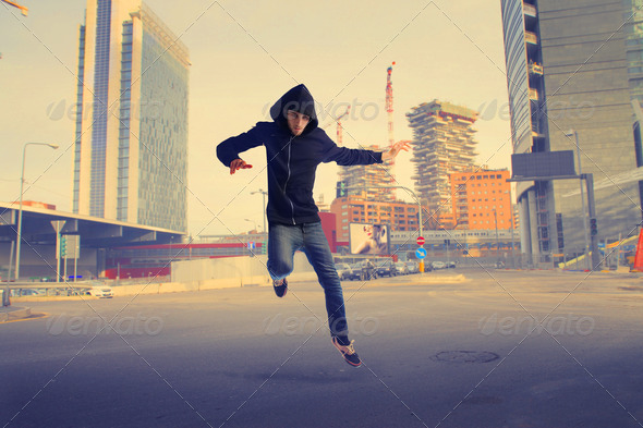 Run in the City - Stock Photo - Images