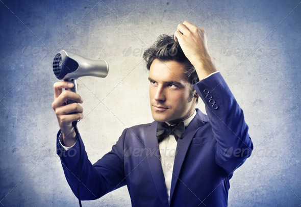 Dry the Hair - Stock Photo - Images