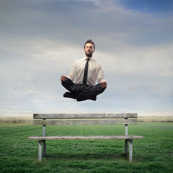 Levitating Office Worker - Stock Photo - Images