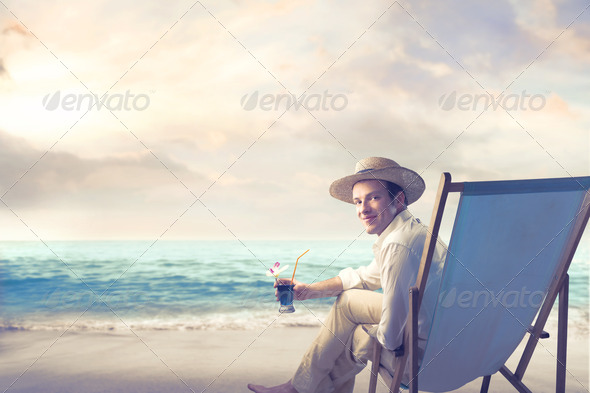 Sea Drink - Stock Photo - Images