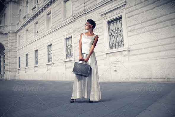 Black Girl Fashion - Stock Photo - Images