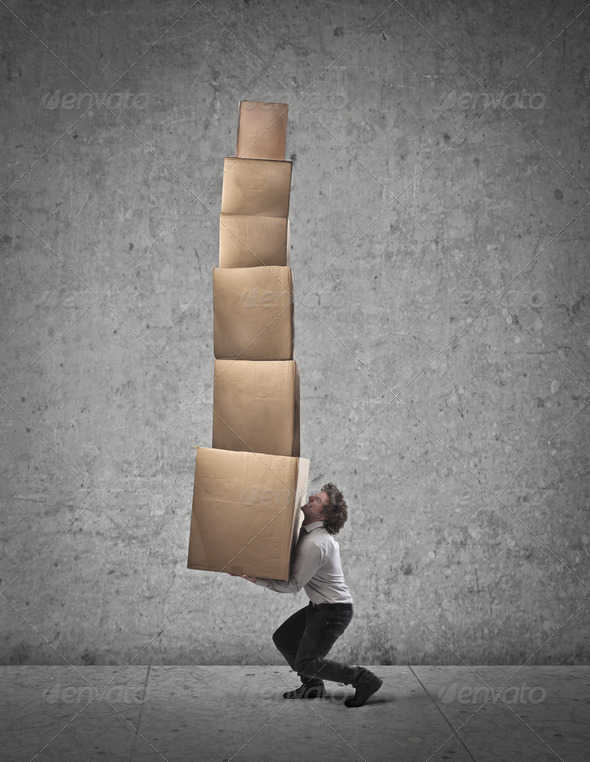 Too Many Boxes - Stock Photo - Images