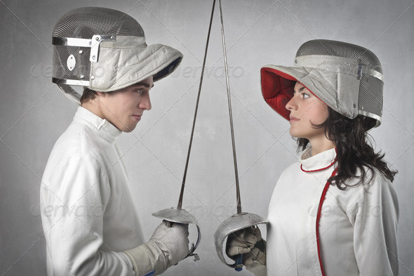 Fencers - Stock Photo - Images