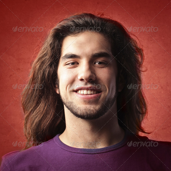 Long Hair Guy - Stock Photo - Images