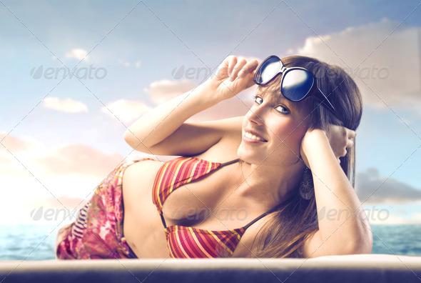 Beautiful Woman - Stock Photo - Images