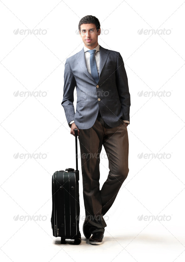 Mulatto Businessman Leaving - Stock Photo - Images