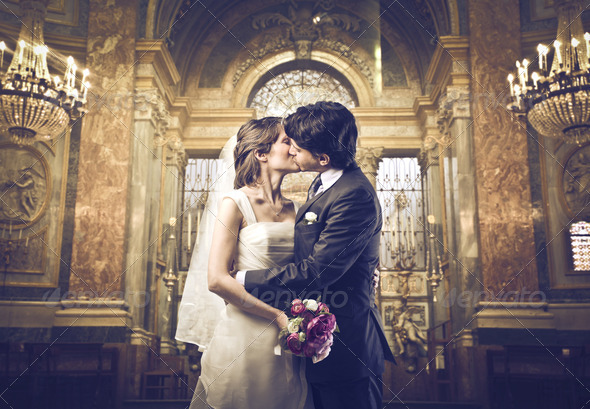 Marriage Kiss - Stock Photo - Images