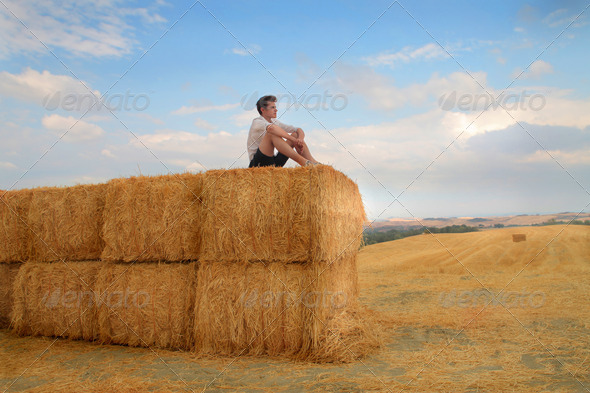 Alone in the Countryside - Stock Photo - Images