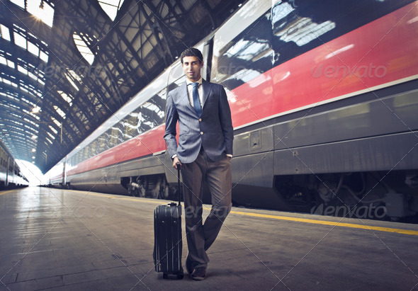 Travel by Train - Stock Photo - Images