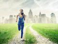 Black Girl Jogging