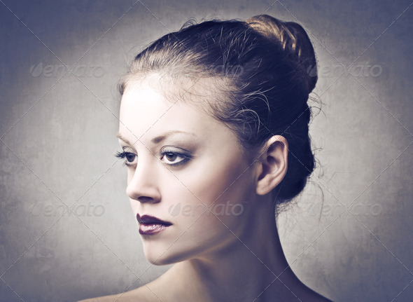Serious Female Face - Stock Photo - Images