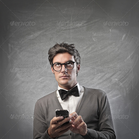 Texting a Message - Stock Photo - Images