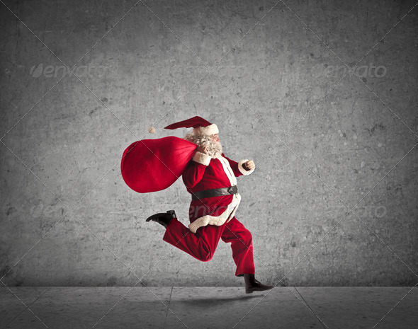 Delivering Santa Claus - Stock Photo - Images