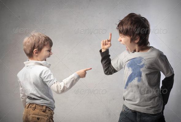 Children Quarrel - Stock Photo - Images
