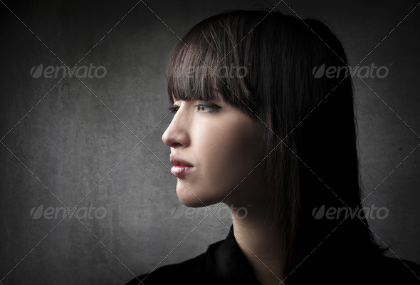 Girl Profile - Stock Photo - Images