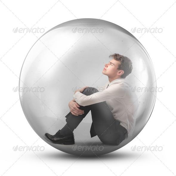 Sad Young Businessman - Stock Photo - Images