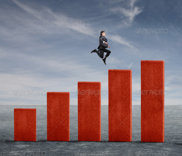 Jumping Businessman - Stock Photo - Images